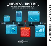 business timeline | Shutterstock .eps vector #127157351