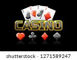 logo text casino and icon  for...