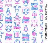 body positive seamless pattern... | Shutterstock .eps vector #1271595967