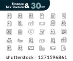 set icons of finance and tax... | Shutterstock .eps vector #1271596861