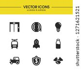 industry icons set with tractor ... | Shutterstock .eps vector #1271621521