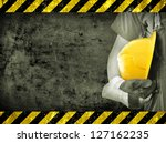 worker and grunge texture in... | Shutterstock . vector #127162235