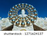 buddha face stack statue of the ... | Shutterstock . vector #1271624137