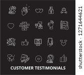 customer testimonials editable... | Shutterstock .eps vector #1271644621