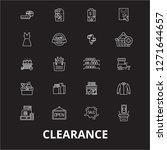 clearance editable line icons... | Shutterstock .eps vector #1271644657