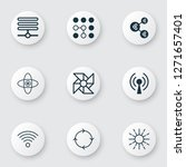 machine icons set with loop... | Shutterstock .eps vector #1271657401