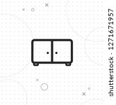 nightstand icon  vector best...   Shutterstock .eps vector #1271671957