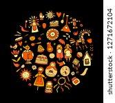 maslenitsa or shrovetide.... | Shutterstock .eps vector #1271672104