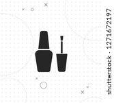 nail polish icon  vector best...   Shutterstock .eps vector #1271672197