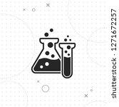 laboratory glassware...   Shutterstock .eps vector #1271672257
