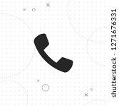 phone icon  vector best flat...   Shutterstock .eps vector #1271676331