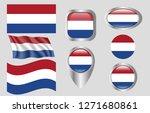 flag of the netherlands | Shutterstock .eps vector #1271680861