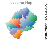 low poly map of lesotho....   Shutterstock .eps vector #1271689027