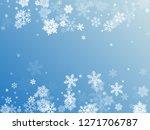 winter snowflakes border trendy ... | Shutterstock .eps vector #1271706787