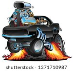 funny classic american muscle... | Shutterstock .eps vector #1271710987