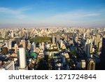 park and cityscape in bangkok...   Shutterstock . vector #1271724844