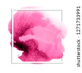 pink colorful watercolor hand... | Shutterstock .eps vector #1271733991