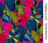 summer exotic seamless pattern. ... | Shutterstock . vector #1271740801