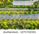 aerial top view of road... | Shutterstock . vector #1271742331