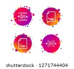 archive file icons. compressed... | Shutterstock .eps vector #1271744404