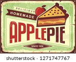 delicious homemade apple pie... | Shutterstock .eps vector #1271747767