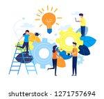 business concept vector... | Shutterstock .eps vector #1271757694