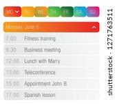 calendar app template | Shutterstock .eps vector #1271763511