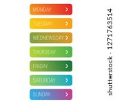 days of the week button | Shutterstock .eps vector #1271763514
