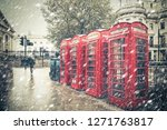 Winter London Street Scene Wit...