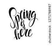 spring is here vector lettering ... | Shutterstock .eps vector #1271788987