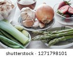 variety of prebiotic foods for...