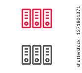 vector icon folders 10 eps | Shutterstock .eps vector #1271801371