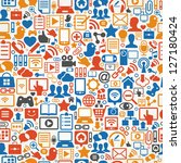 seamless  vector background of... | Shutterstock .eps vector #127180424