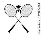 badminton sport symbol | Shutterstock .eps vector #1271806384