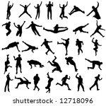 sport silhouettes | Shutterstock .eps vector #12718096