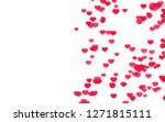 valentine day pink red hearts... | Shutterstock . vector #1271815111