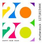 happy new year 2020 text design.... | Shutterstock .eps vector #1271815444