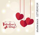 happy valentines day ... | Shutterstock .eps vector #1271824114