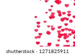 valentine day pink red hearts... | Shutterstock . vector #1271825911