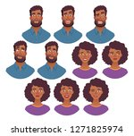 portrait of african man and...   Shutterstock .eps vector #1271825974