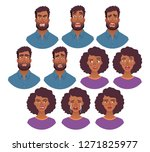 portrait of african man and...   Shutterstock .eps vector #1271825977