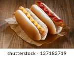Two Appetizing Hotdog With...