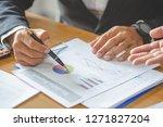 team work process. young... | Shutterstock . vector #1271827204