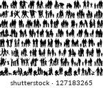 family groups, vector work | Shutterstock vector #127183265