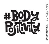 body positivity   hand drawn... | Shutterstock .eps vector #1271837791