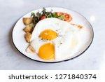 delicious english breakfast... | Shutterstock . vector #1271840374