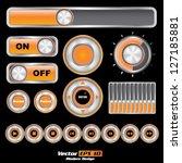vector user interface set....