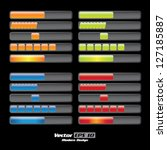 vector color loading progress...   Shutterstock .eps vector #127185887