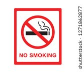 no smoking sign on white... | Shutterstock .eps vector #1271862877