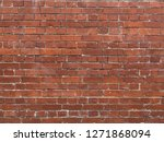 red brick wall background | Shutterstock . vector #1271868094